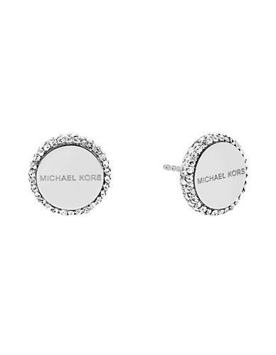 michael kors female cubic zirconia studded disc earrings