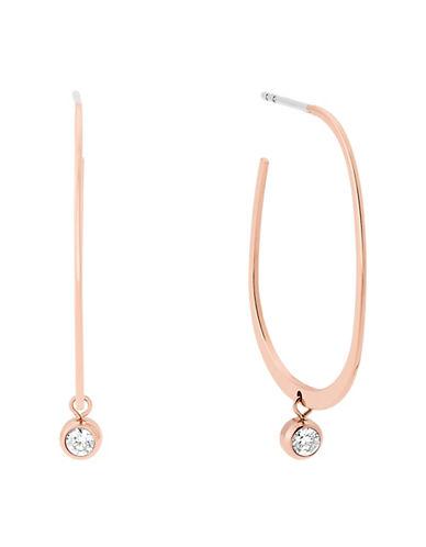 michael kors female brilliance cubic zirconia and crystal hoop earrings 1in