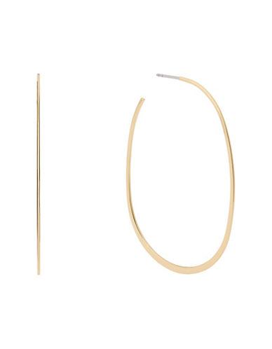 michael kors female post back hoop earrings