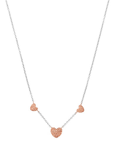 michael kors female cubic zirconia crystal chain necklace