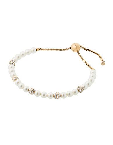 michael kors female classic modern fauxpearl slider bracelet