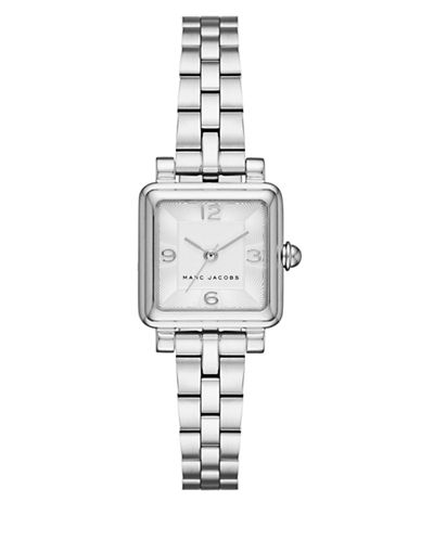 marc jacobs female vic stainless steel threehand bracelet watch