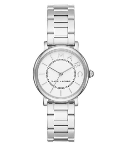 marc jacobs female roxy stainless steel threelink bracelet watch