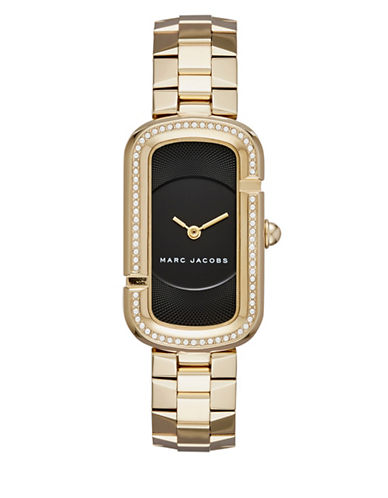 marc jacobs female the jacobs goldtone stainlesssteel twohand bracelet watch