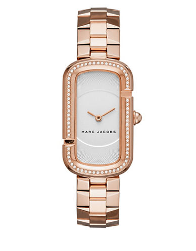 marc jacobs female the jacobs rose goldtone stainlesssteel twohand bracelet watch