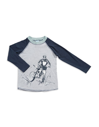 CHARLIE ROCKET Boys 2-7 Dirt Bike T Shirt