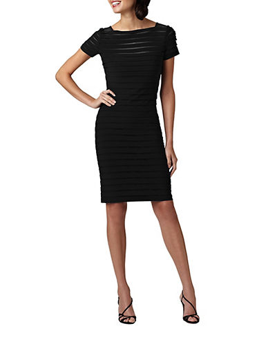 ADRIANNA PAPELLBanded Illusion Mesh Dress