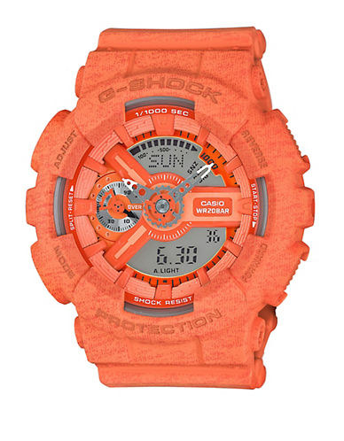Baby-G Orange Heathered Resin Watch, GMAS110HT4A