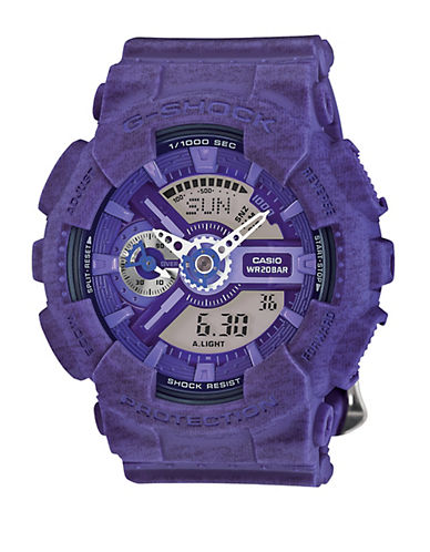 Baby-G Purple Heathered Resin Watch, GMAS110HT6A