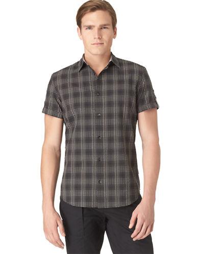 CALVIN KLEINModern Fit Ombre Check Seersucker Sport Shirt