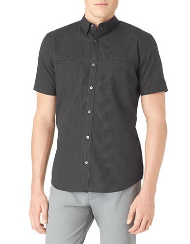 CALVIN KLEINModern Fit Poplin Check Sport Shirt