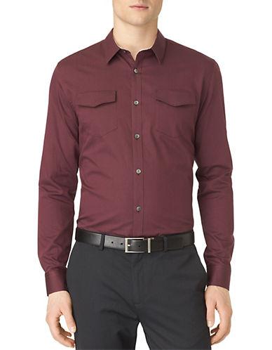 CALVIN KLEINFramboise Bar Stripe Dobby Sport Shirt