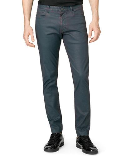 CALVIN KLEINTwo Tone Carbon Coated Pants