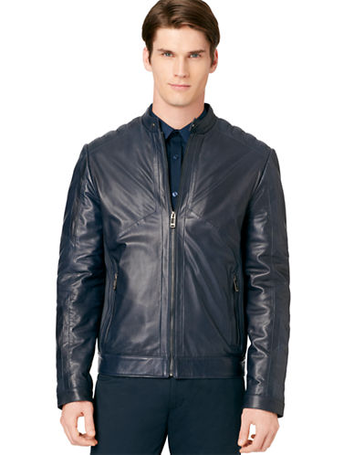 CALVIN KLEIN Perforated Leather Jacket