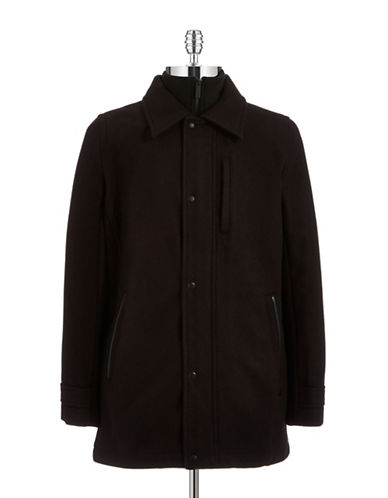 CALVIN KLEIN Melton Car Coat