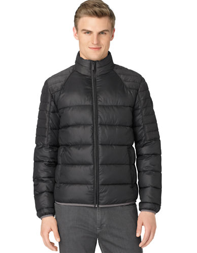 CALVIN KLEIN Mixed Media Puffer Jacket