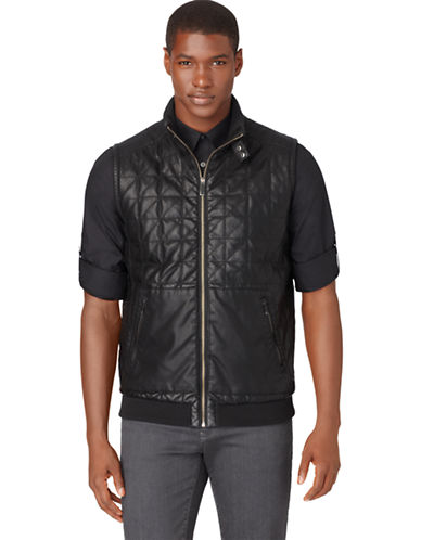 CALVIN KLEINQuilted Faux Leather Vest
