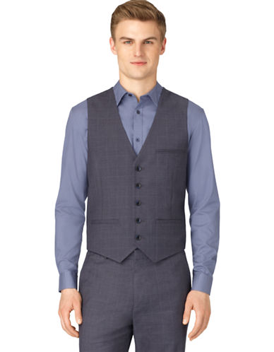 CALVIN KLEINClassic Fit Twill Plaid Suit Vest