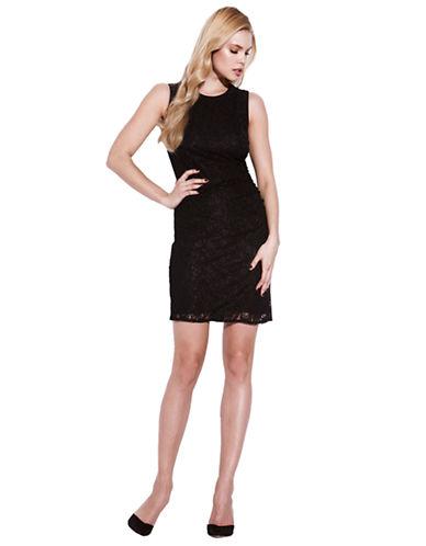 LAUNDRY BY SHELLI SEGALShirred Lace Sleeveless Dress