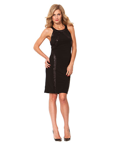 LAUNDRY BY SHELLI SEGALCutaway Sequined Matte Jersey Dress