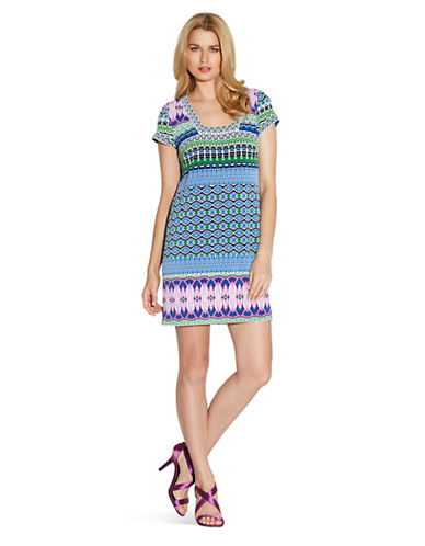 Shop Laundry By Shelli Segal online and buy Laundry By Shelli Segal Geo Print TShirt Dress dress online
