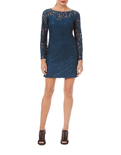 LAUNDRY BY SHELLI SEGALLace Overlay Shift Dress
