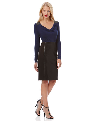 LAUNDRY BY SHELLI SEGAL Faux Leather Pencil Skirt