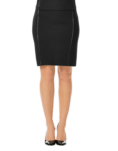 LAUNDRY BY SHELLI SEGAL Fabric Blocked Panel Pencil Skirt