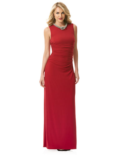 LAUNDRY BY SHELLI SEGALPleated Jersey Necklace Gown