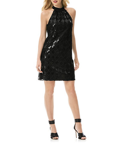 Shop Laundry By Shelli Segal online and buy Laundry By Shelli Segal Sequined Check Dress dress online