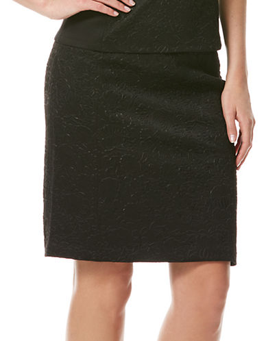 LAUNDRY BY SHELLI SEGAL Embossed Pencil Skirt