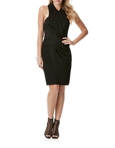 Shop Laundry By Shelli Segal online and buy Laundry By Shelli Segal Wrap Front Cocktail Dress dress online