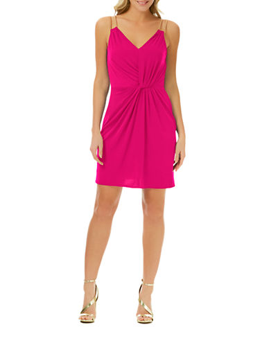 Shop Laundry By Shelli Segal online and buy Laundry By Shelli Segal Pleated Chain-Strap Cocktail Dress dress online