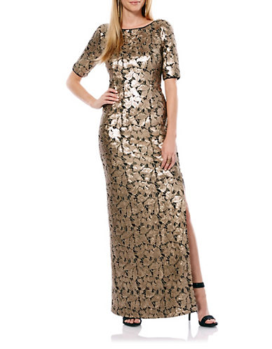 Embellished Foiled Gown $276.00 AT vintagedancer.com