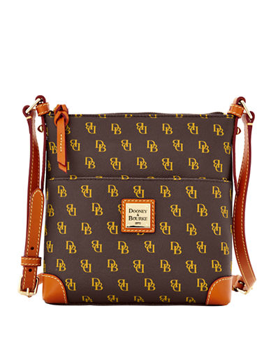DOONEY & BOURKE Coated Cotton Letter Carrier Crossbody Bag