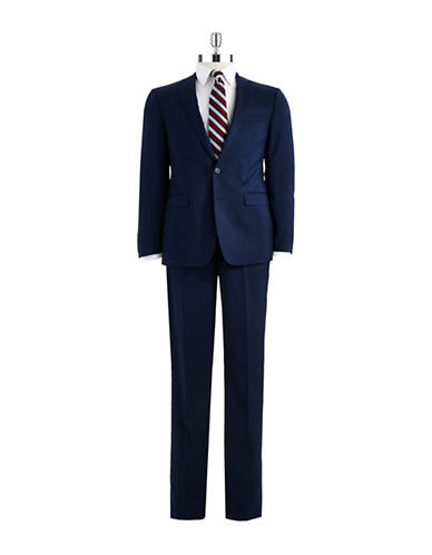 CALVIN KLEIN Slim Fit Two-Piece Wool Suit