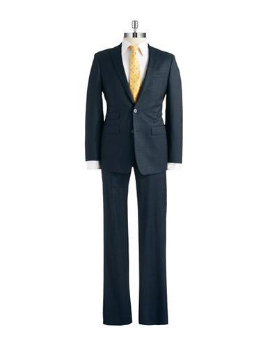 Calvin Klein Two Piece Crosshatched Suit Set