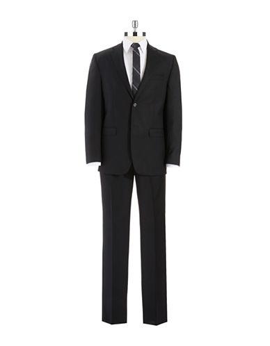 LAUREN RALPH LAURENClassic Fit Two-Piece Striped Wool Pants Suit