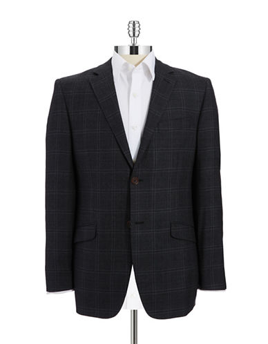 BLACK BROWN 1826 Slim Fit Checkered Blazer