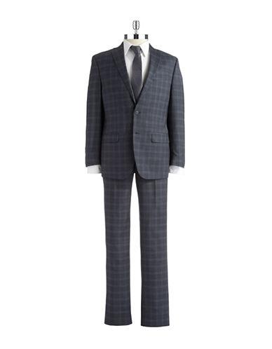 CALVIN KLEINWool Plaid Suit Set
