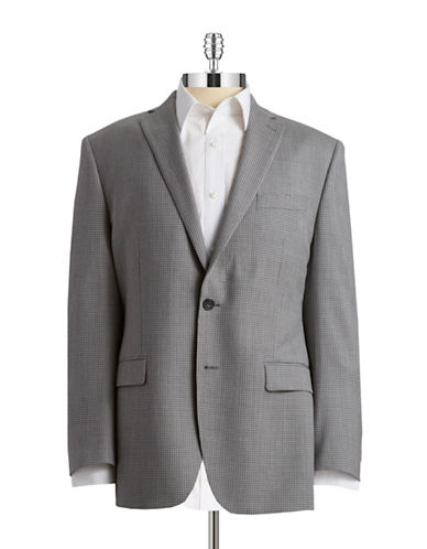 CALVIN KLEIN Checked Two Button Suit Jacket