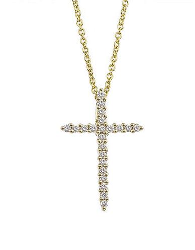 ROBERTO COINDiamond and 18K Yellow Gold Cross Pendant Necklace
