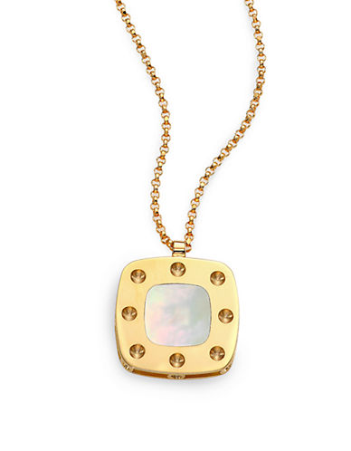 ROBERTO COINPois Moi Mother-Of-Pearl and 18K Yellow Gold Pendant Necklace