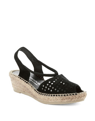 ANDRE ASSOUSConnie Suede Espedrille Wedges