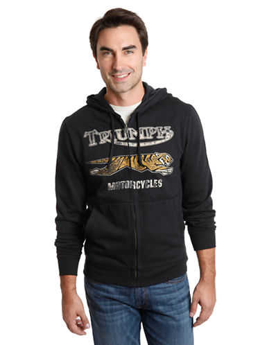 LUCKY BRAND Triumph Motorcycle Zip Hoodie