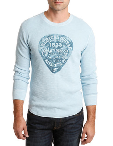 LUCKY BRAND Martin Guitars Thermal T Shirt