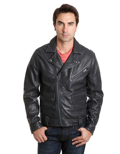 LUCKY BRAND Titan Leather Moto Jacket