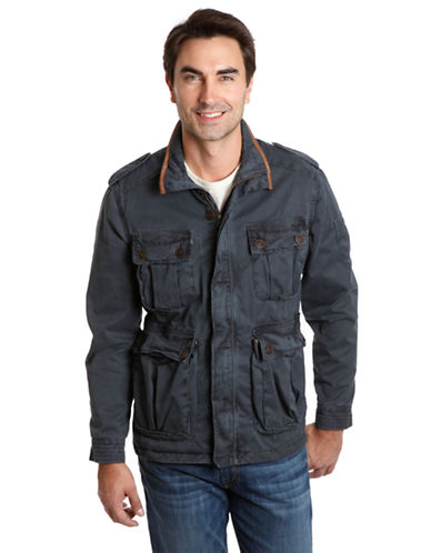 LUCKY BRAND Ventura Leather Trim Jacket