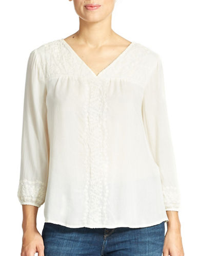 LUCKY BRANDEmbroidered Peasant Top