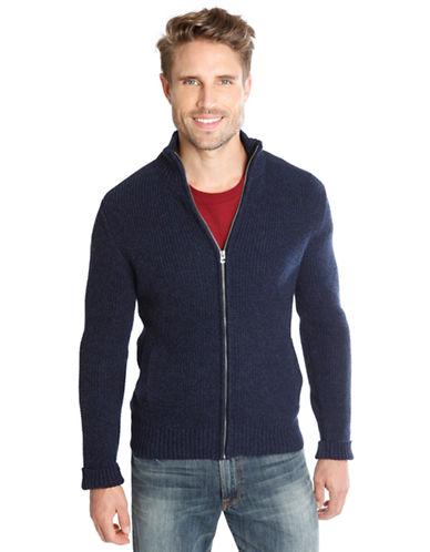 LUCKY BRANDWaffle Knit Zip Jacket